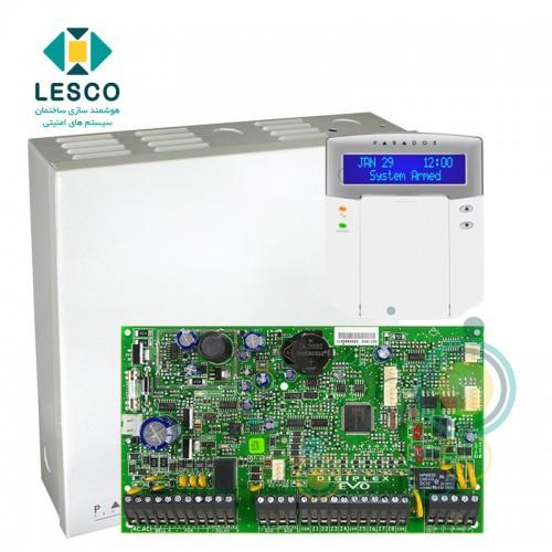 کنترل پنل 192 زون - پشتیبانی از کنترل تردد و زون های آدرس پذیر + کی پد + K641 + جعبه فلزی بزرگ