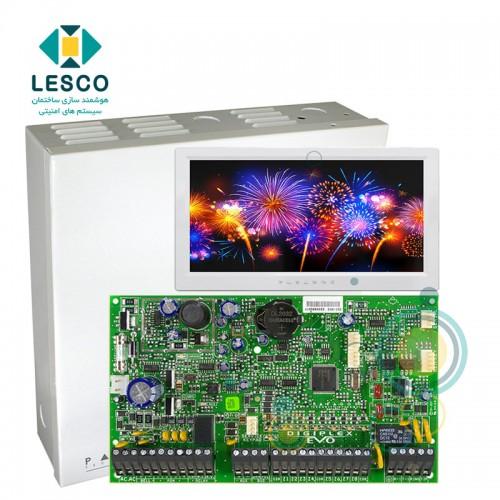 کنترل پنل 192 زون، پشتیبانی از کنترل تردد و زون های آدرس پذیر + کی پد TM70 + جعبه فلزی