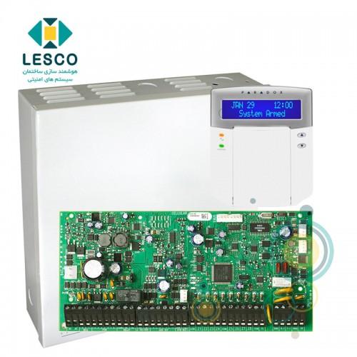 کنترل پنل 192 زون، پشتیبانی از کنترل تردد و زون های آدرس پذیر + کی پد + K641 + جعبه فلزی بزرگ