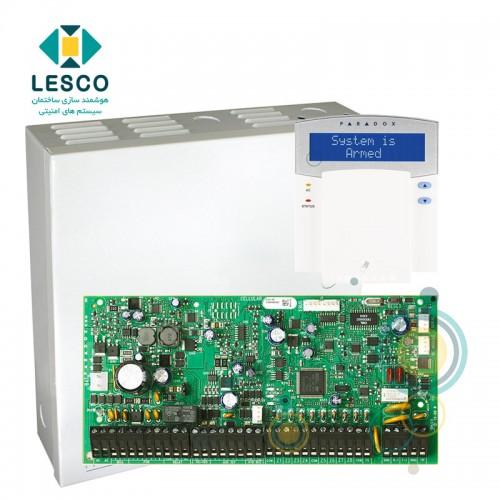 کنترل پنل 192 زون ، پشتیبانی از کنترل تردد و زون های آدرس پذیر + کی پد K641R + جعبه فلزی