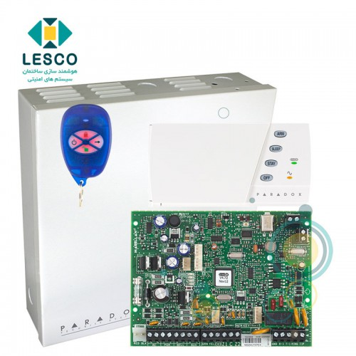 کنترل پنل 32 زون بی سیم + کی پد K636  + جعبه فلزی + REM1