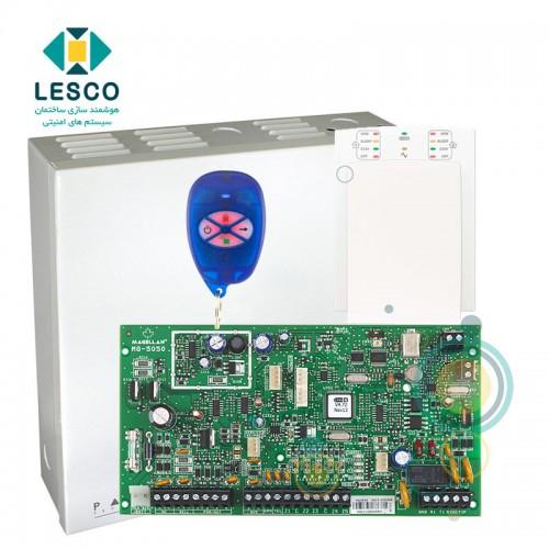 کنترل پنل 32 زون بی سیم + کی پد K10v + جعبه فلزی + REM1