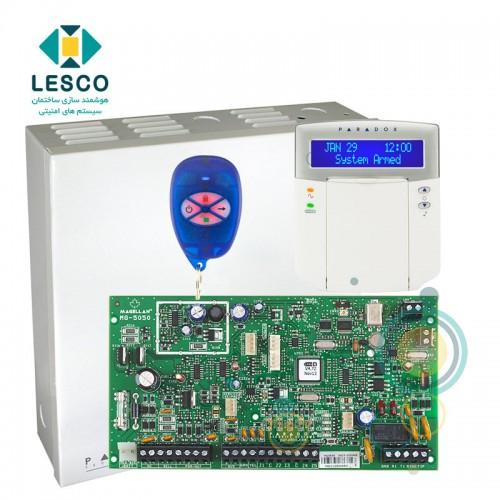کنترل پنل 32 زون بی سیم + کی پد K32LCD + جعبه فلزی + REM1