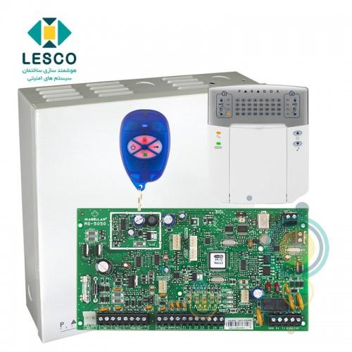 کنترل پنل 32 زون بی سیم  + کی پد K32LED + جعبه فلزی + REM1