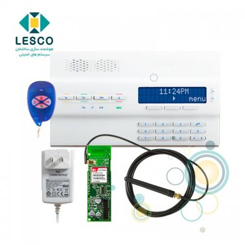 کنسول بی سیم 64 زون و 2 پارتیشن - قابلیت ارتباط از طریق SMS,GPRS,GSM صوتی و خط تلفن +REM 1