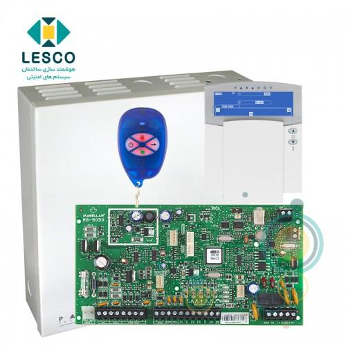 کنترل پنل 32 زون بی سیم + کی پد K37 + جعبه فلزی + REM1