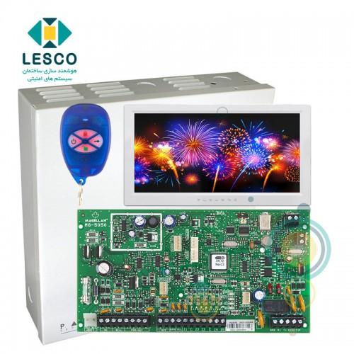 کنترل پنل 32 زون بی سیم + کی پد TM70 + جعبه فلزی + REM1