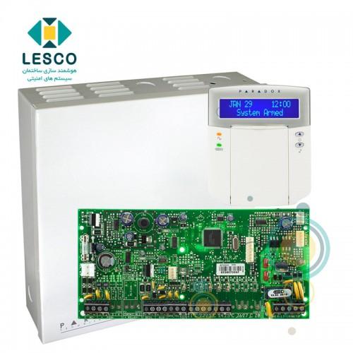 کنترل پنل 5 زون با سیم با قابلیت 2 برابر شدن + کی پد K32LCD + جعبه فلزی