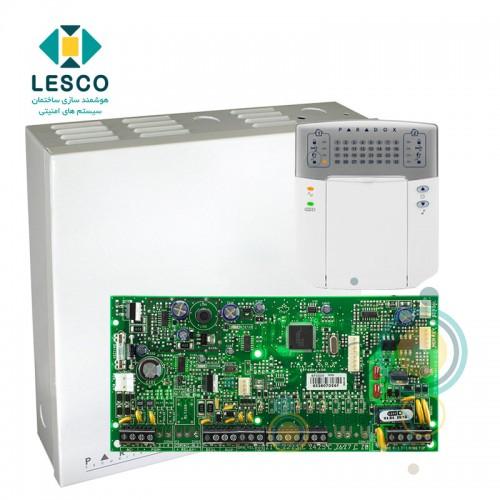 کنترل پنل 5 زون با سیم با قابلیت 2 برابر شدن + کی پد K32LED + جعبه فلزی