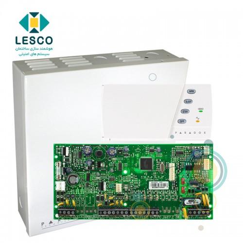 کنترل پنل 5 زون با سیم با قابلیت 2 برابر شدن + کی پد K636 + جعبه فلزی