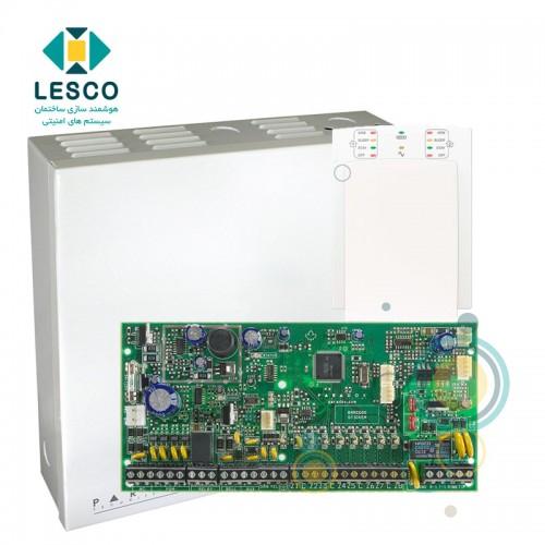 کنترل پنل 8 زون با سیم با قابلیت 2 برابر شدن + کی پد K10v + جعبه فلزی