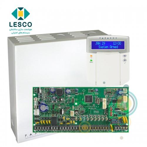 کنترل پنل 8 زون با سیم با قابلیت 2 برابر شدن + کی پد K32LCD + جعبه فلزی