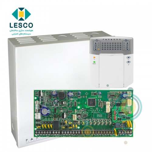 کنترل پنل 8 زون با سیم با قابلیت 2 برابر شدن + کی پد K32LED + جعبه فلزی