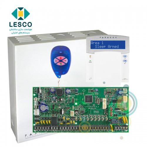 کنترل پنل 8 زون با سیم با قابلیت 2 برابر شدن + کی پد K32LX + جعبه فلزی + REM1