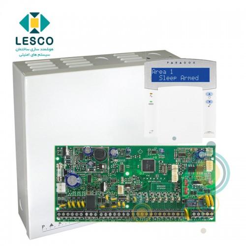 کنترل پنل 8 زون با سیم با قابلیت 2 برابر شدن + کی پد K32LX + جعبه فلزی - بدون ریموت