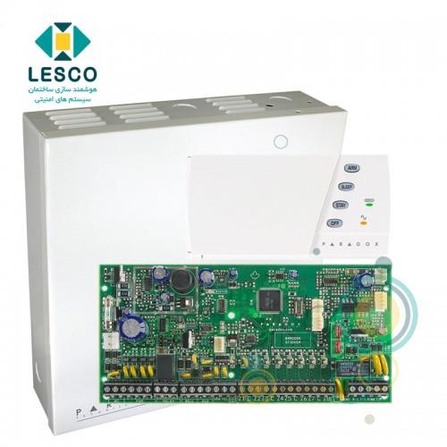کنترل پنل 8 زون با سیم با قابلیت 2 برابر شدن + کی پد K636 + جعبه فلزی