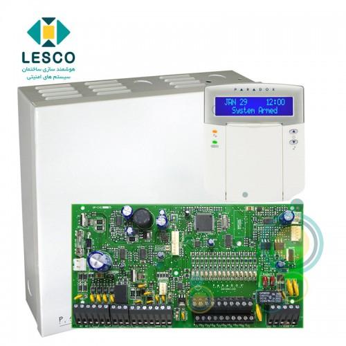 کنترل پنل 16 زون با سیم با قابلیت 2 برابر شدن + کی پد K32LCD + جعبه فلزی