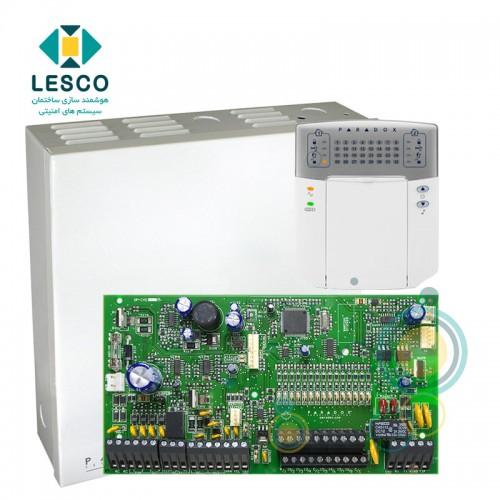 کنترل پنل 16 زون با سیم با قابلیت 2 برابر شدن + کی پد K32LED + جعبه فلزی