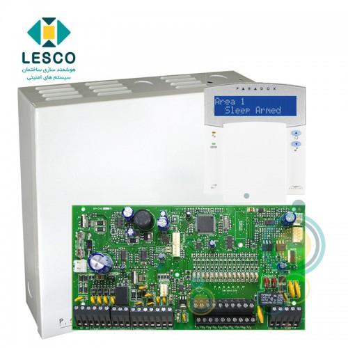 کنترل پنل 16 زون با سیم با قابلیت 2 برابر شدن + کی پد K32LX + جعبه فلزی - بدون ریموت
